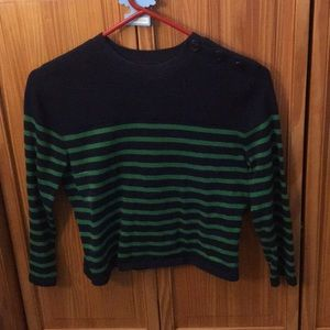 Forever 21 Crop Top Stripes Sweater